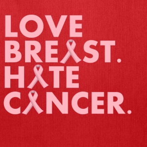 Love Breast. Hate Cancer. (WMNS Hoody) - Tote Bag