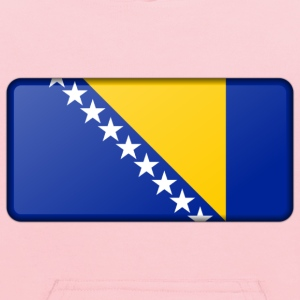 Flag of Bosnia Herzegovina (bevelled) - Kids' Hoodie
