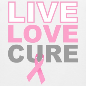 Live Love Cure Breast Cancer T-Shirts - Men's Premium Tank