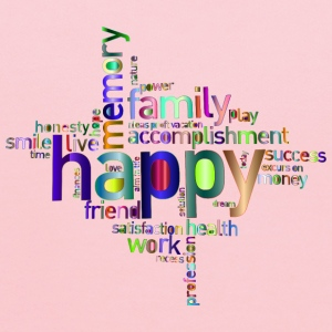 Prismatic Happy Family Word Cloud 4 No Background - Kids' Hoodie