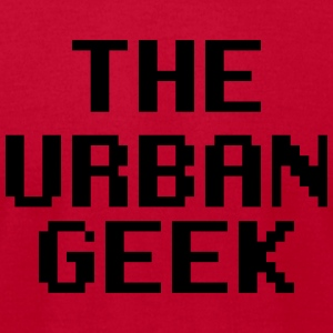 The Urban Geek blue and red  - Men's T-Shirt by American Apparel
