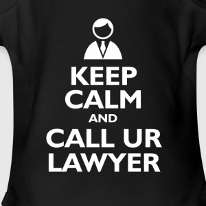 keep calm call lawyer Kids' Shirts - Short Sleeve Baby Bodysuit
