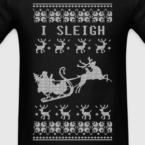 I Sleigh Long Sleeve Shirts - Men's T-Shirt