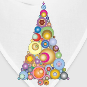 Colorful Abstract Circles Christmas Tree 3 - Bandana
