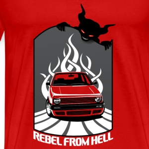 Mk2 Car - Rebel in Hell Tanks - Men's Premium T-Shirt