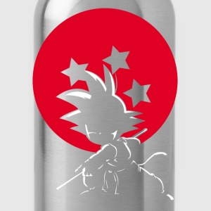 Red Ball Silhouette Goku - Water Bottle