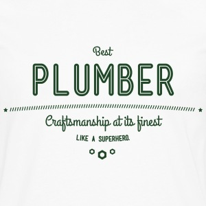 best plumber - craftsmanship at its finest T-Shirts - Men's Premium Long Sleeve T-Shirt