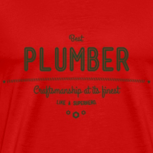 best plumber - craftsmanship at its finest Tanks - Men's Premium T-Shirt