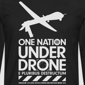 One Nation Under Drone - Support WikiLeaks T-Shirts - Men's Premium Long Sleeve T-Shirt