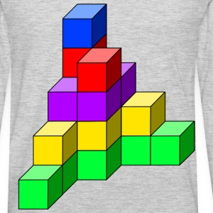 cube tower 11 - Men's Premium Long Sleeve T-Shirt