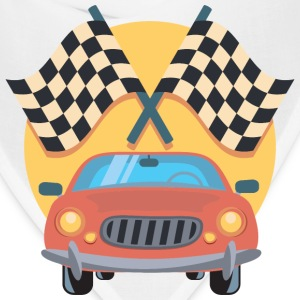 Car And Racing Flags Icon - Bandana