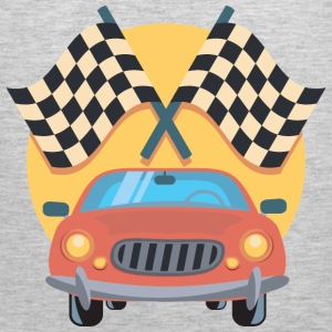Car And Racing Flags Icon - Men's Premium Tank