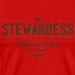 best stewardess - craftsmanship at its finest Sportswear - Men's Premium T-Shirt
