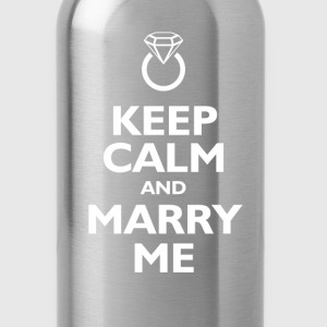 keep calm and marry me T-Shirts - Water Bottle