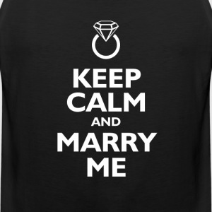 keep calm and marry me T-Shirts - Men's Premium Tank