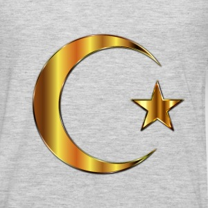 Golden Crescent Moon And Star Enhanced 2 - Men's Premium Long Sleeve T-Shirt