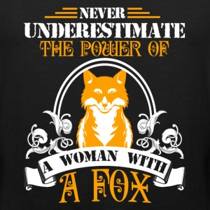 Woman With A Fox Shirt - Men's Premium Tank