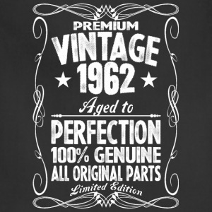 Premium Vintage 1962 Aged To Perfection 100% Genui T-Shirts - Adjustable Apron