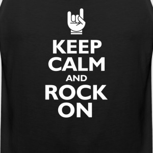 keep calm and rock on T-Shirts - Men's Premium Tank