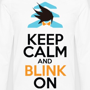 Keep Calm and Blink On - Men's Premium Long Sleeve T-Shirt