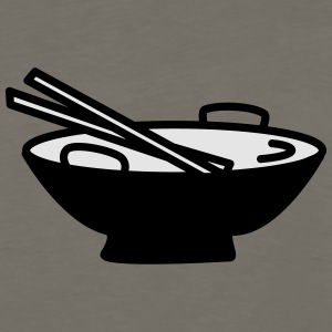 Bowl with Chopsticks - Men's Premium Long Sleeve T-Shirt