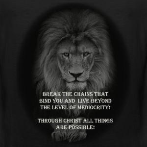 LION-BREAK THE CHAINS-06 T-Shirts - Men's Premium Tank