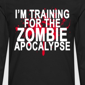 training_for_the_zombie_apocalypse_ - Men's Premium Long Sleeve T-Shirt