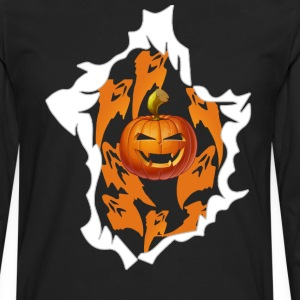 Halloween Pumpkin Burst - Men's Premium Long Sleeve T-Shirt