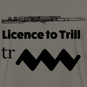 Licence to Trill Flute - Men's Premium Long Sleeve T-Shirt