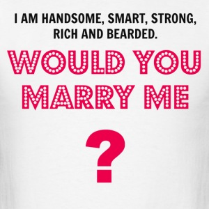 Would You Marry Me Long Sleeve Shirts - Men's T-Shirt