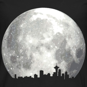 full moon skyline T-Shirts - Men's Premium Long Sleeve T-Shirt