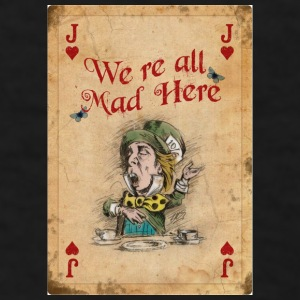 The Mad Hatter, Vintage, We're All Mad Here - Men's T-Shirt