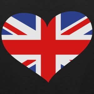 United Kingdom Heart; Love United Kingdom Hoodies - Men's Premium Tank