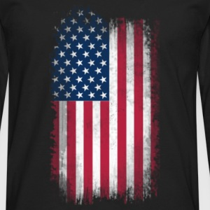 US Flag - Men's Premium Long Sleeve T-Shirt