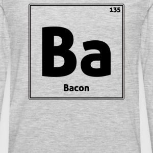 Bacon Periodic Table - Men's Premium Long Sleeve T-Shirt