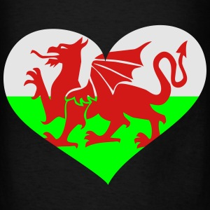 Wales Heart; Love Wales Bags & backpacks - Men's T-Shirt