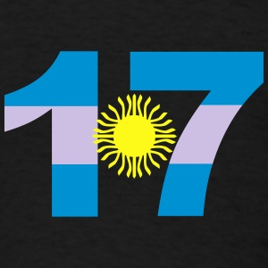 Argentinia Numbers, 17, Jersey Numbers Argentinia Other - Men's T-Shirt