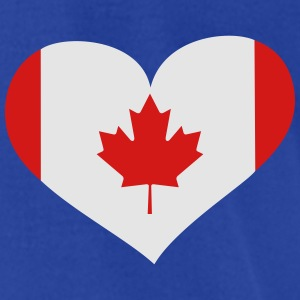 Canada Heart; Love Canada Polo Shirts - Men's T-Shirt by American Apparel