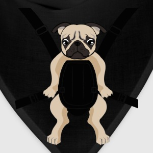 Funny Cute Baby PUG Carrier with Strap On T-Shirts - Bandana
