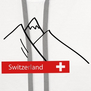 Switzerland: Swiss Mountains T-Shirts - Contrast Hoodie