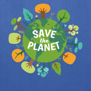 Save The Planet Ecology T-shirt T-Shirts - Tote Bag