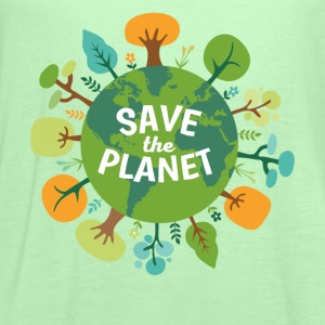 Save The Planet Ecology T-shirt T-Shirts - Women's Flowy Tank Top by Bella
