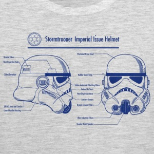 stormtrooper blueprint star wars T-Shirts - Men's Premium Tank