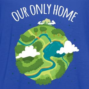 Our Only Home Ecology T-shirt T-Shirts - Women's Flowy Tank Top by Bella