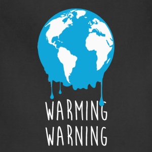 Warming Warning Ecology T-shirt T-Shirts - Adjustable Apron