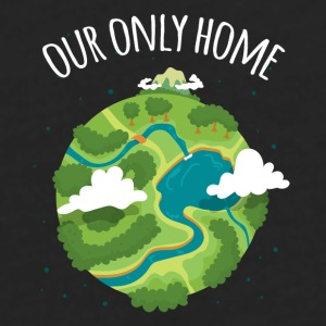 Our Only Home Ecology T-shirt Mugs & Drinkware - Men's Premium Long Sleeve T-Shirt