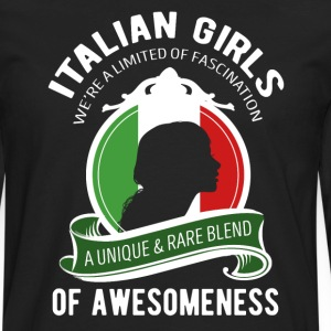 Italian Girls Awesomeness Italian T-shirt T-Shirts - Men's Premium Long Sleeve T-Shirt