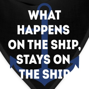 Stays on the Ship Cruising T-shirt T-Shirts - Bandana