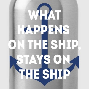 Stays on the Ship Cruising T-shirt T-Shirts - Water Bottle