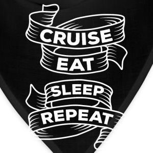 Cruise Eat Sleep Repeat Cruising T-shirt T-Shirts - Bandana